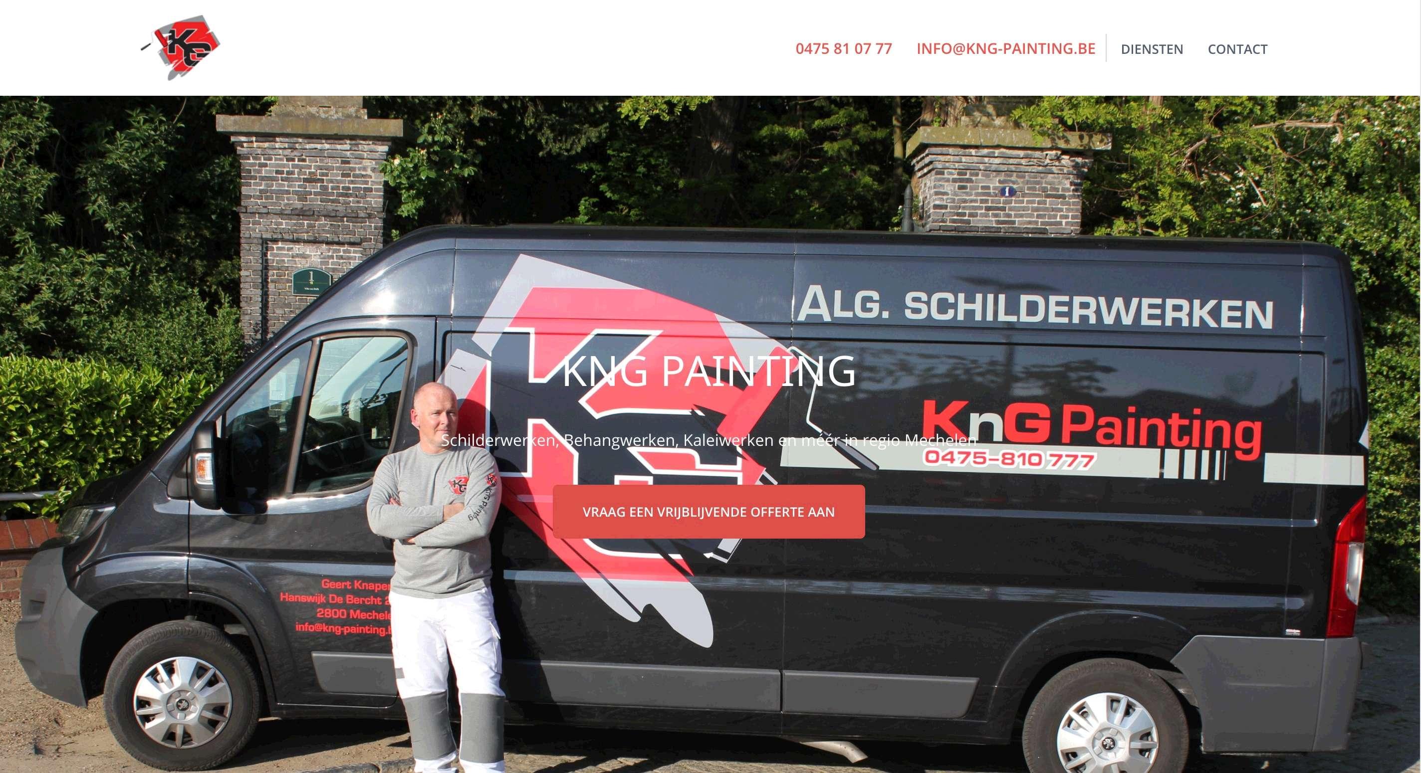 Schilderwerken KnG Painting - Webdesign Antwerpen