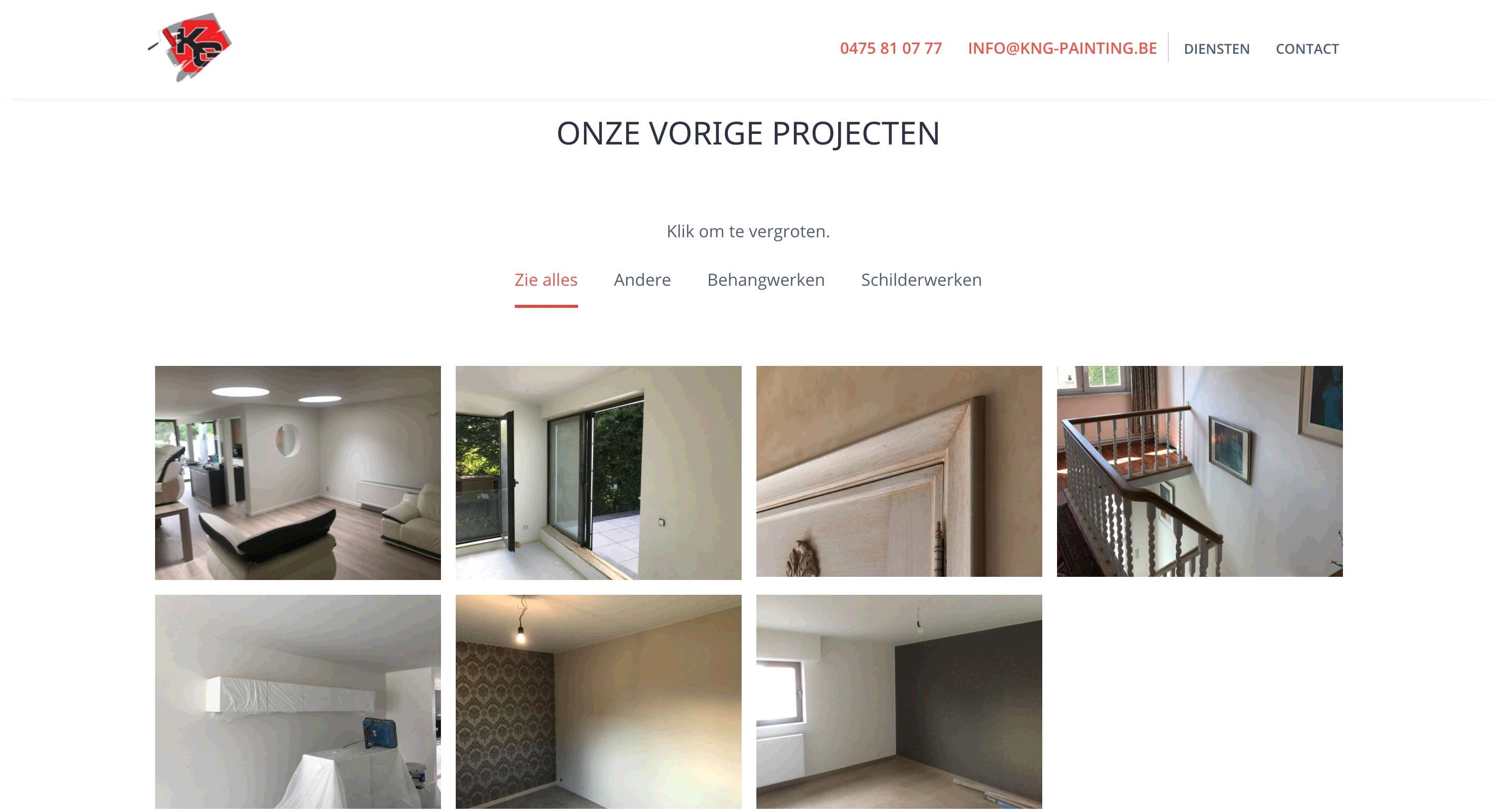 Schilderwerken KnG Painting - Webdesign Mechelen