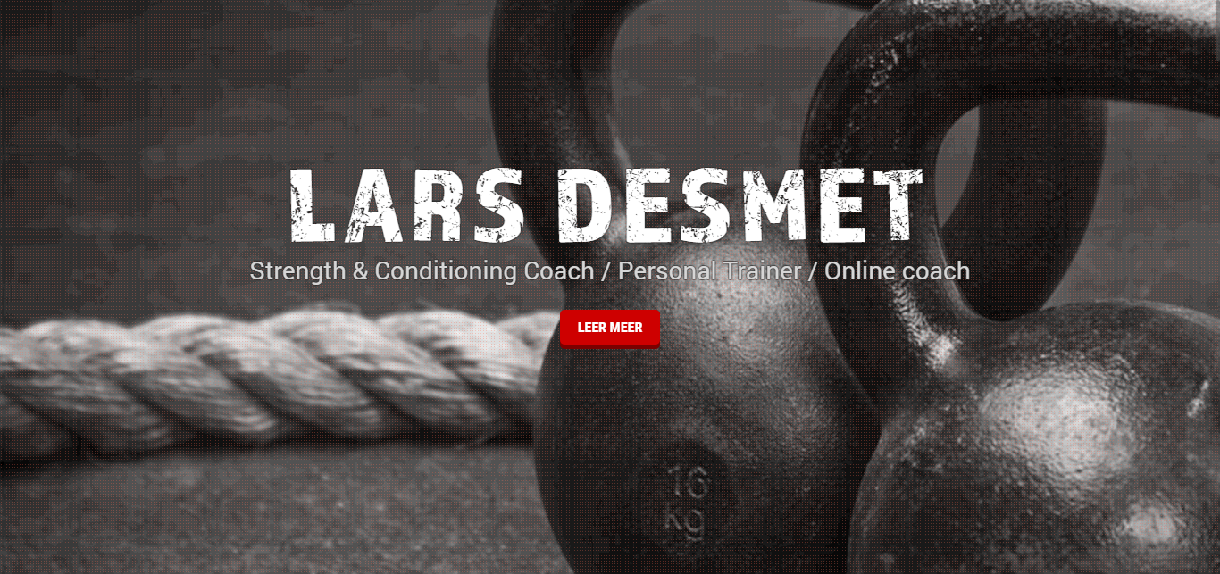 Lars Desmet Personal Training - Webdesign Mechelen