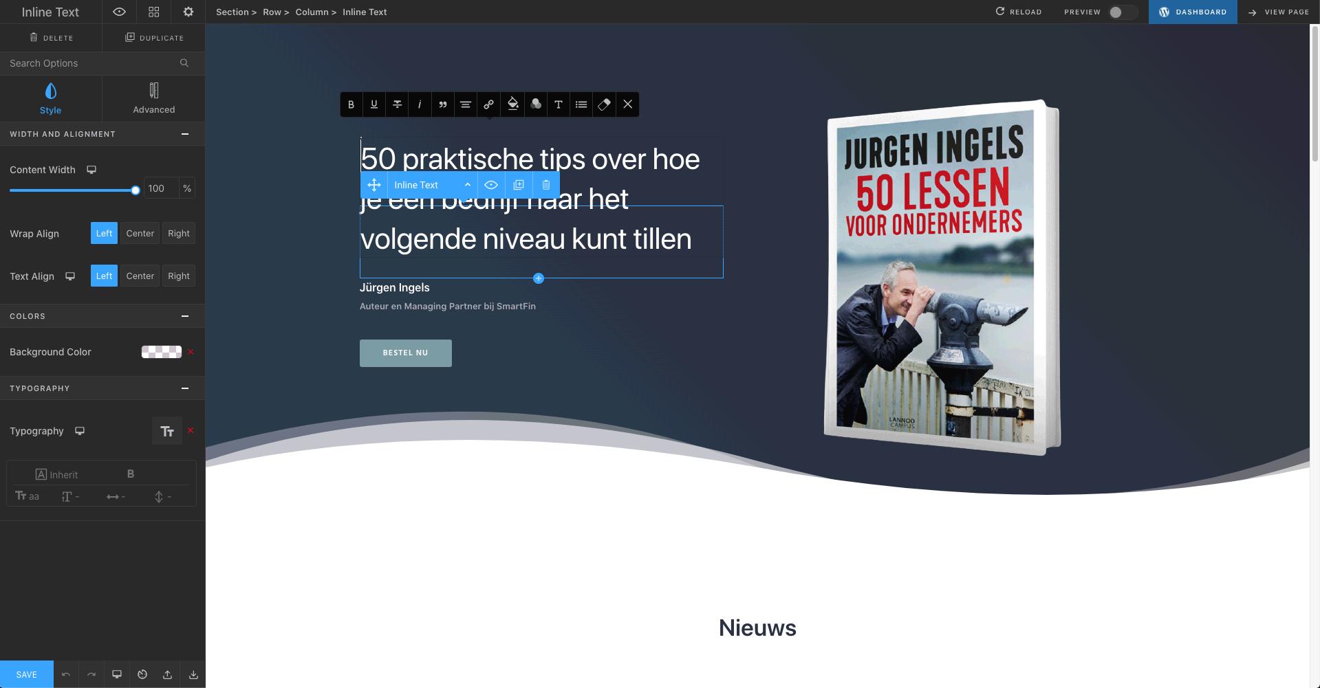 Jurgen Ingels - Webdesign Antwerpen