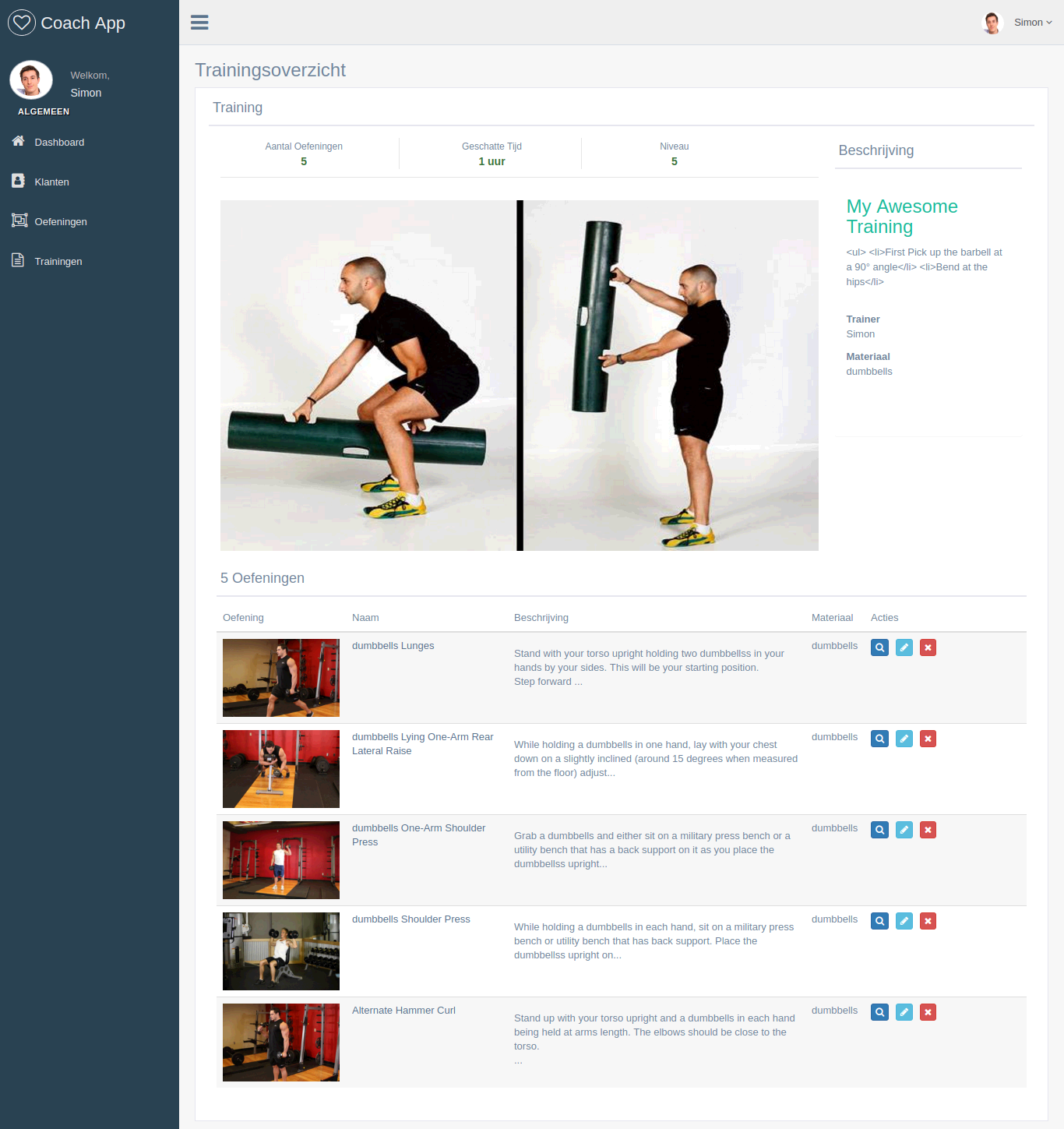CoachApp - Webdesign Mechelen