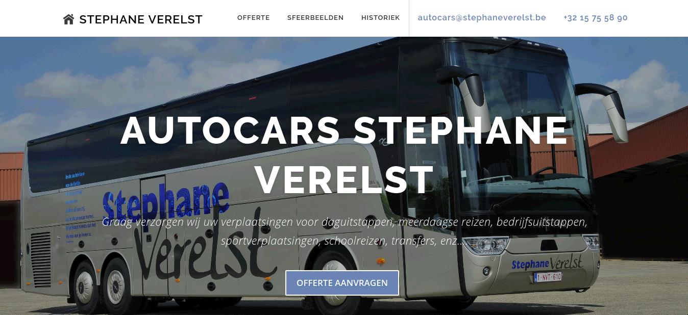 Autocars Stephane Verelst - Webdesign Antwerpen